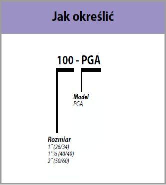 zawór PGA specyfikacja